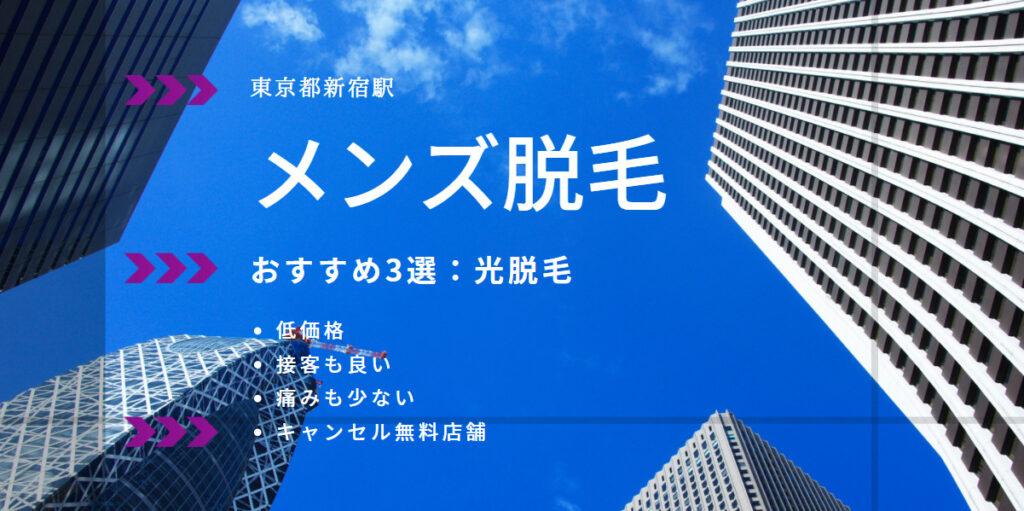 まとめ:東京都/新宿駅メンズ脱毛オススメ3選