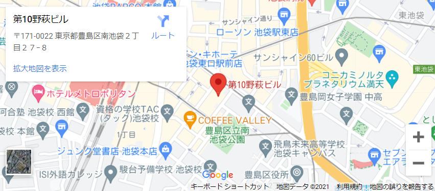 店舗名MAP:メンズエミナル池袋東口院(位置・情報)